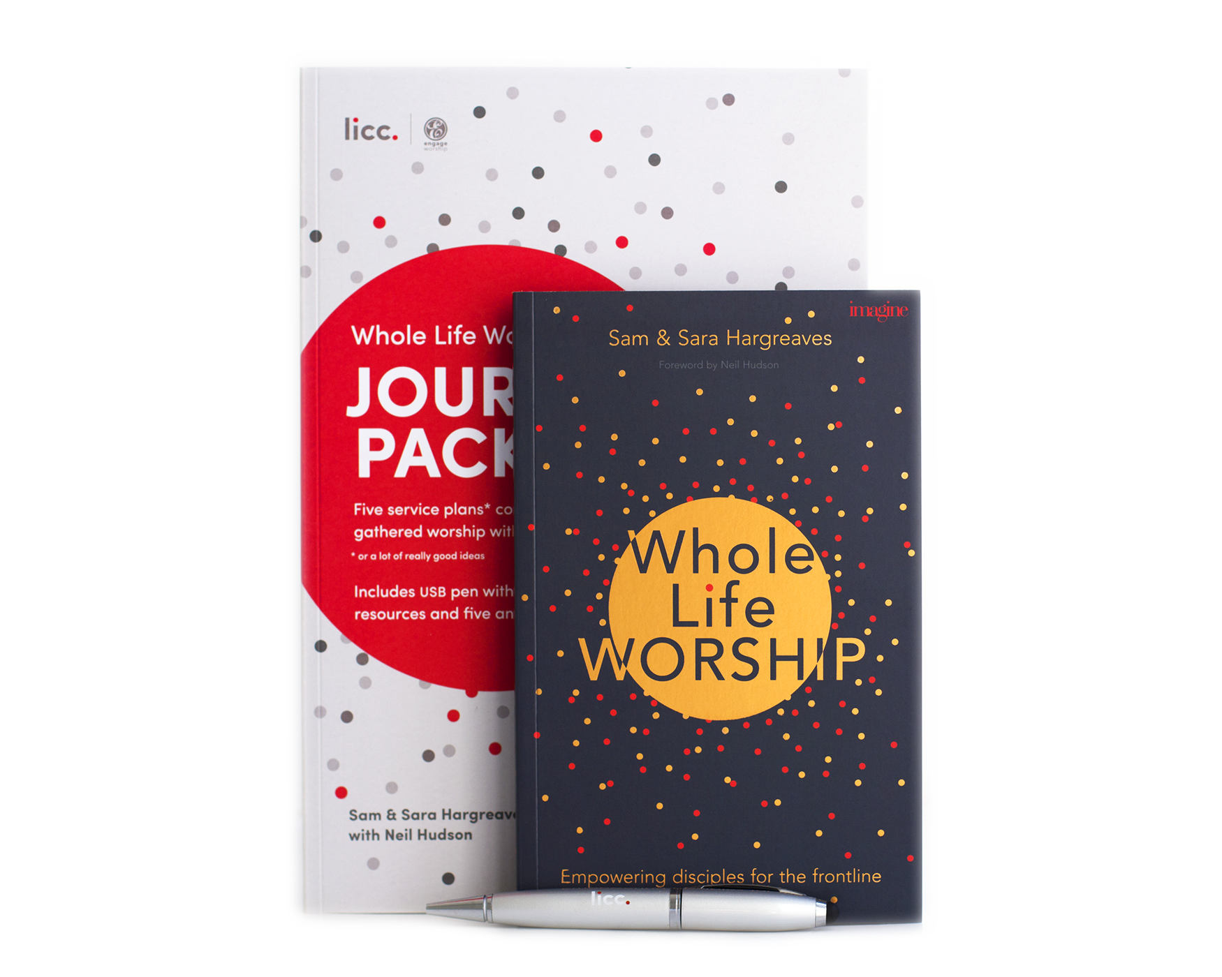 Journey pack, Book and USB pen all pictured together